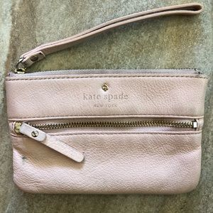 Blush pink Kate Spade wristlet wallet